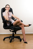 Lady-boss in office Royalty Free Stock Photo