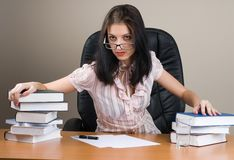 Lady-boss in office royalty free stock photos
