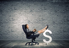 Lady boss Royalty Free Stock Images