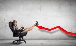 Lady boss Stock Photo