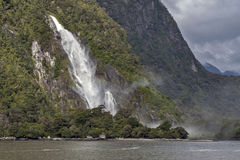 Lady Bowen Falls, Milford Sound, New Zealand Royalty Free Stock Photography