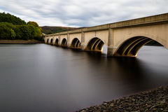 Lady Bower Bridge. Bridge over Ladybower Dam Derbyshire England Stock Photos