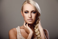 Lady with braid Stock Photography