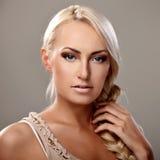 Lady with braid Stock Photo