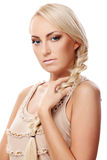 Lady with braid Royalty Free Stock Photography