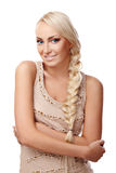 Lady with braid Stock Photo