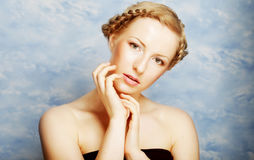 Lady with a braid Royalty Free Stock Photo