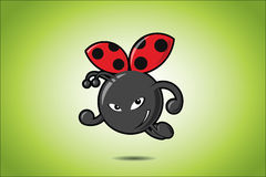Lady bug. Vector illustration of lady bug Stock Illustration