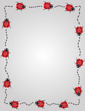 Lady bug border frame Stock Photography
