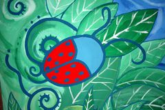 Lady bug graffiti  Royalty Free Stock Photos