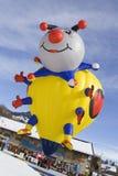 Lady Bug Hot Air Balloon - Chateau-d Oex 2010 Stock Photo
