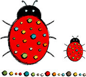 Lady Bug with Polka Dots Royalty Free Stock Photo