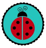 Lady Bug Seal Royalty Free Stock Photography
