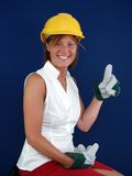 Lady Builder Stock Photography
