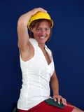 Lady builder Royalty Free Stock Photos