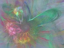 Lady Butterfly. 3D abstract in pastels, details best viewed full size, large file Royalty Free Stock Photos