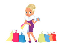 Lady buy store shopping Stock Photos