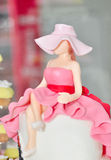 Lady Cake. Cake with glaze in a fashionable lady shape Stock Photography