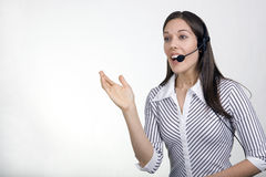 Lady Call Center Agent Stock Photography