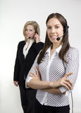 Lady Call Center Agents Stock Images