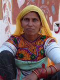 Lady at Camel fair, Jaisalmer, India Stock Photos