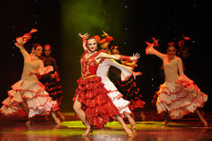 The lady of the Camellias-Spanish flamenco-the Austria's world Dance Royalty Free Stock Photos