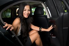 Lady in car Stock Images
