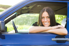 Lady and car Royalty Free Stock Image