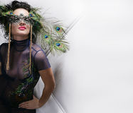 Lady in carnival costume Stock Photography