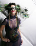 Lady in carnival costume Stock Photos