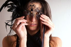 Lady with carnival mask Royalty Free Stock Photography