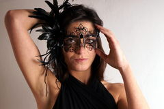 Lady with carnival mask Royalty Free Stock Image