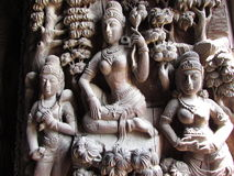 3 Lady carving at Sanctuary Of Truth. Pattaya Thailand Royalty Free Stock Photography