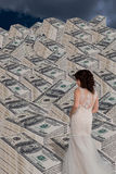 Lady and the Cash. royalty free stock photography