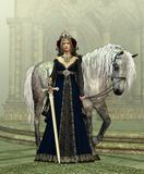 Lady of the Castle Stock Photography