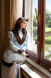 Lady in the castle Royalty Free Stock Images