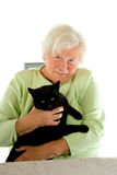 Lady with cat Stock Photos