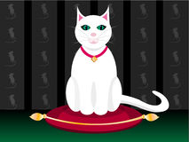 Lady cat. Vector lady cat who lives rich life and enjoying her luxury Royalty Free Stock Photography