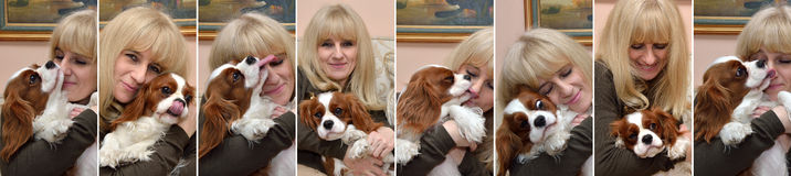 Lady and Cavalier Stock Images