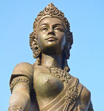 Lady Chamadevi monument. She lived in 1300 years ago, she was a very beautiful woman. Have the ability to battle and domination. She was a devout Buddhist. So Royalty Free Stock Photos