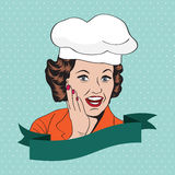 Lady Chef,  retro illustration Stock Image