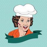 Lady Chef,  retro illustration Stock Image