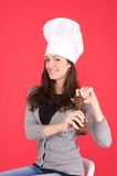 Lady chef Stock Photography
