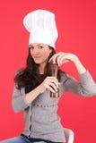 Lady chef Stock Photo