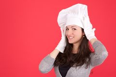 Lady chef Stock Images