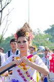 Lady in Chiangmai Flower Festival 36th. Stock Image