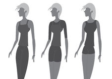 Lady Chic Fashion Vector Illustration Stock Images