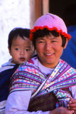 Lady with child at festival in Ladakh, India Stock Photos