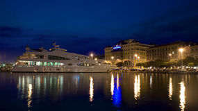 Lady Christine. Yacht in port of Rijeka, Croatia Royalty Free Stock Images