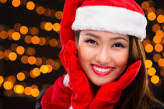 Lady Christmas Royalty Free Stock Photos